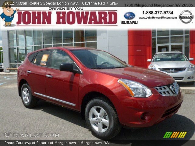 cayenne red 2012 nissan rogue s special edition awd gray interior vehicle. Black Bedroom Furniture Sets. Home Design Ideas