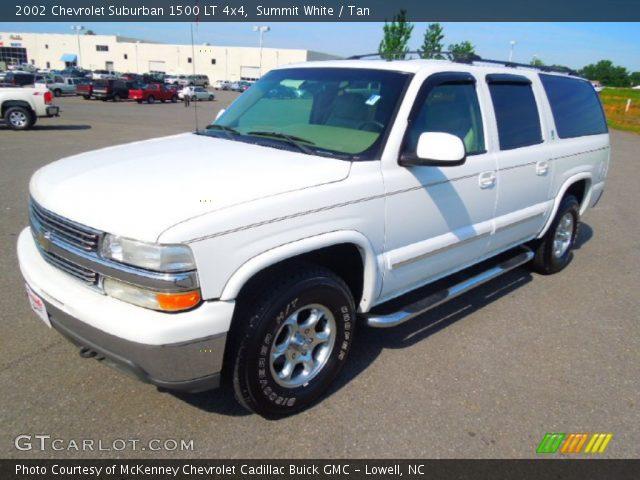 summit white 2002 chevrolet suburban 1500 lt 4x4 tan interior vehicle. Black Bedroom Furniture Sets. Home Design Ideas