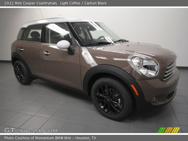 light coffee 2012 mini cooper countryman carbon black interior vehicle. Black Bedroom Furniture Sets. Home Design Ideas
