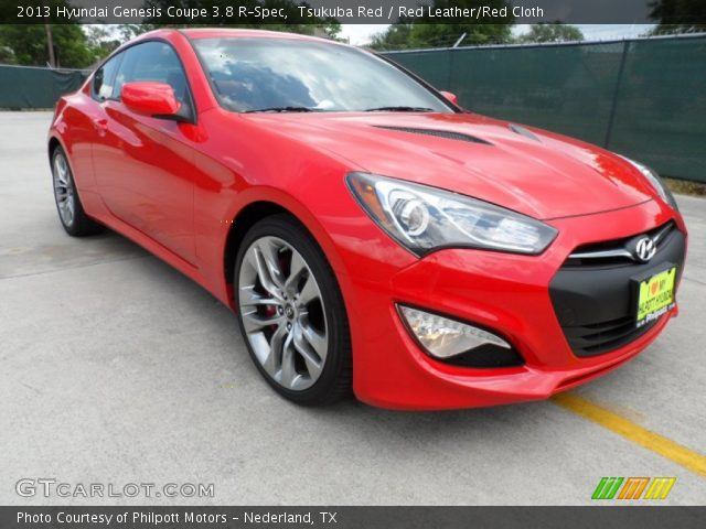 tsukuba red 2013 hyundai genesis coupe 3 8 r spec red leather red cloth interior gtcarlot. Black Bedroom Furniture Sets. Home Design Ideas
