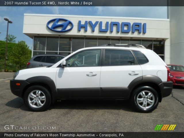 nordic white 2007 hyundai tucson se 4wd beige interior. Black Bedroom Furniture Sets. Home Design Ideas