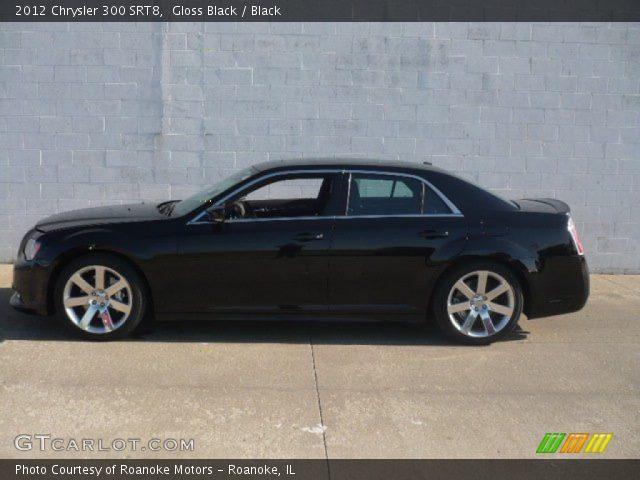 Gloss Black 2012 Chrysler 300 Srt8 Black Interior Vehicle Archive 64869960