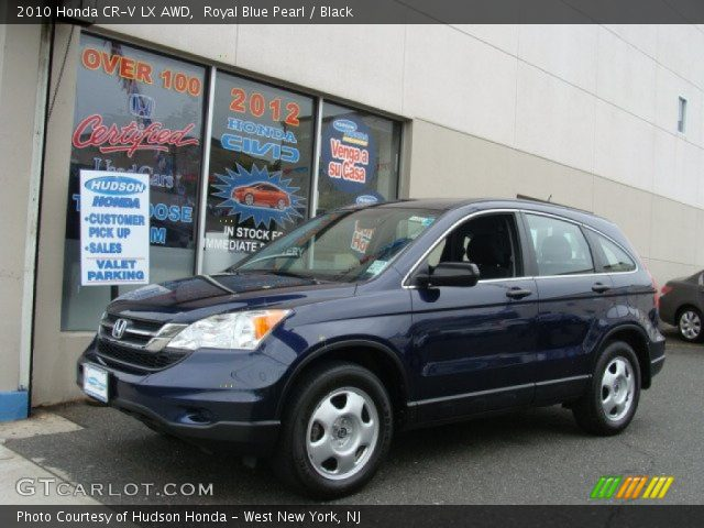 royal blue pearl 2010 honda cr v lx awd black interior vehicle archive. Black Bedroom Furniture Sets. Home Design Ideas