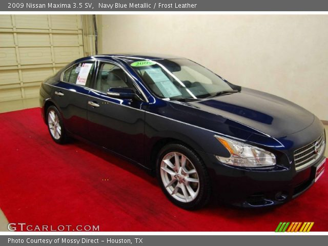 navy blue metallic 2009 nissan maxima 3 5 sv frost leather interior vehicle. Black Bedroom Furniture Sets. Home Design Ideas