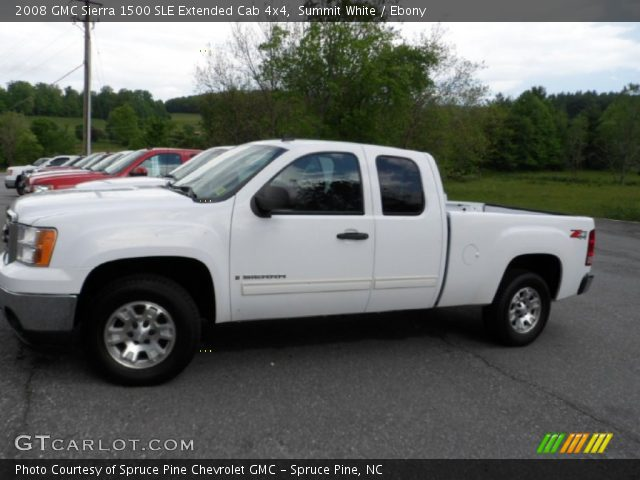 summit white 2008 gmc sierra 1500 sle extended cab 4x4. Black Bedroom Furniture Sets. Home Design Ideas
