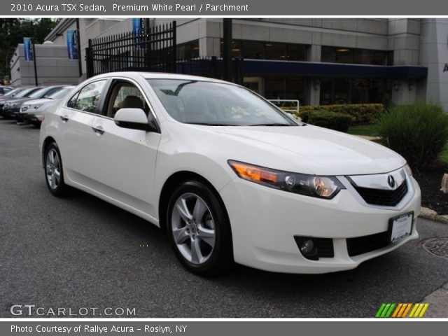 premium white pearl 2010 acura tsx sedan parchment. Black Bedroom Furniture Sets. Home Design Ideas