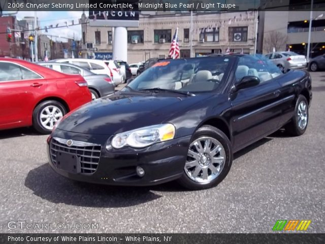 Midnight Blue Pearl 2006 Chrysler Sebring Limited Convertible with ...