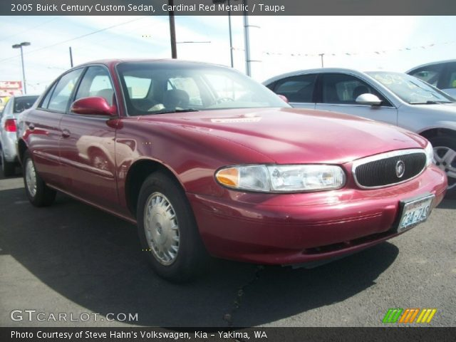 cardinal red metallic 2005 buick century custom sedan. Black Bedroom Furniture Sets. Home Design Ideas