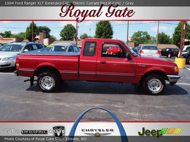 electric currant red metallic 1994 ford ranger xlt extended cab grey interior. Black Bedroom Furniture Sets. Home Design Ideas