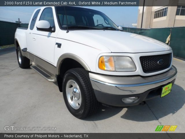 oxford white 2000 ford f150 lariat extended cab 4x4 medium parchment interior. Black Bedroom Furniture Sets. Home Design Ideas