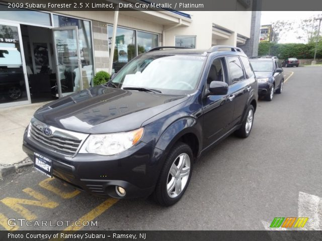 dark gray metallic 2009 subaru forester 2 5 x limited. Black Bedroom Furniture Sets. Home Design Ideas