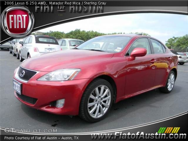 matador red mica 2006 lexus is 250 awd sterling gray interior vehicle. Black Bedroom Furniture Sets. Home Design Ideas