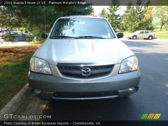 platinum metallic 2001 mazda tribute lx v6 beige interior vehicle archive. Black Bedroom Furniture Sets. Home Design Ideas