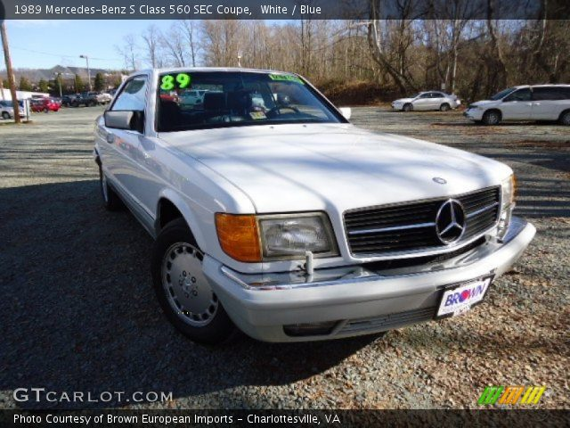 1989 Mercedes-Benz S Class 560 SEC Coupe in White