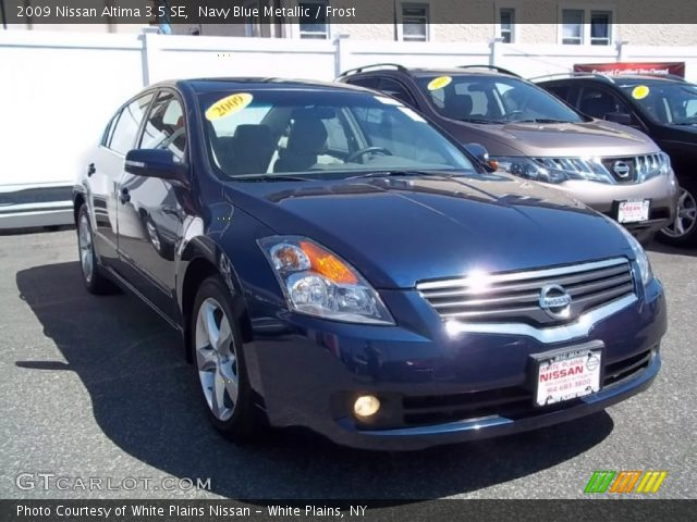 navy blue metallic 2009 nissan altima 3 5 se frost interior vehicle archive. Black Bedroom Furniture Sets. Home Design Ideas
