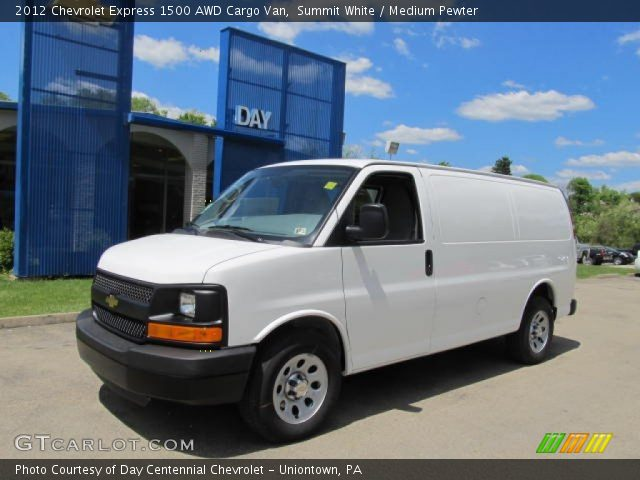 summit white 2012 chevrolet express 1500 awd cargo van. Black Bedroom Furniture Sets. Home Design Ideas