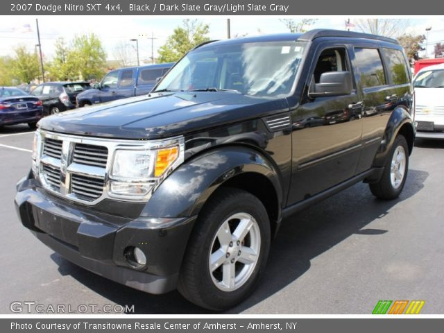 black 2007 dodge nitro sxt 4x4 dark slate gray light. Black Bedroom Furniture Sets. Home Design Ideas