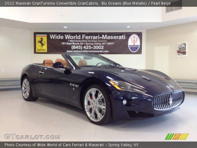 2012 Maserati GranTurismo Convertible GranCabrio in Blu Oceano (Blue Metallic)