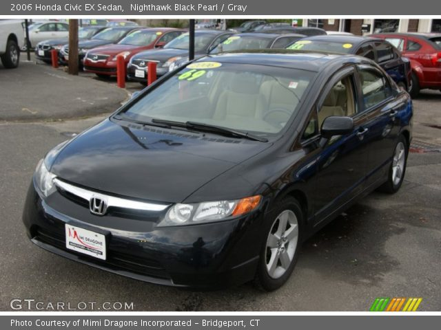 nighthawk black pearl 2006 honda civic ex sedan gray interior vehicle. Black Bedroom Furniture Sets. Home Design Ideas