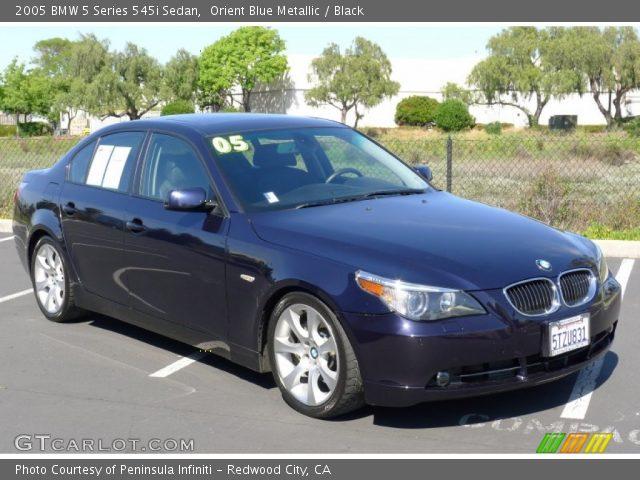 orient blue metallic 2005 bmw 5 series 545i sedan black interior vehicle. Black Bedroom Furniture Sets. Home Design Ideas