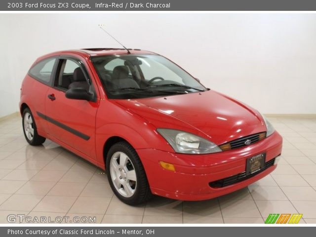 infra red 2003 ford focus zx3 coupe dark charcoal. Black Bedroom Furniture Sets. Home Design Ideas