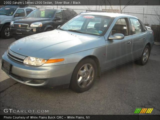 silver blue 2002 saturn l series l300 sedan black interior vehicle archive. Black Bedroom Furniture Sets. Home Design Ideas