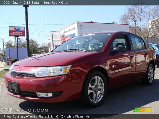 Berry Red 2004 Saturn Ion 3 Sedan Grey Interior Gtcarlot