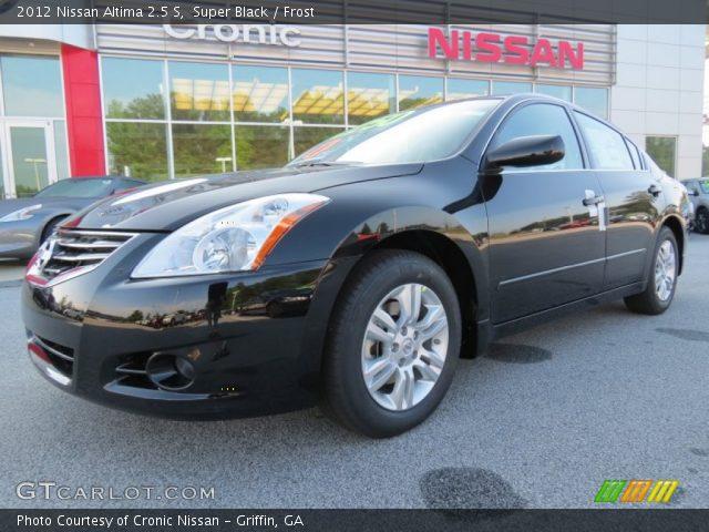 Super Black 2012 Nissan Altima 2 5 S Frost Interior