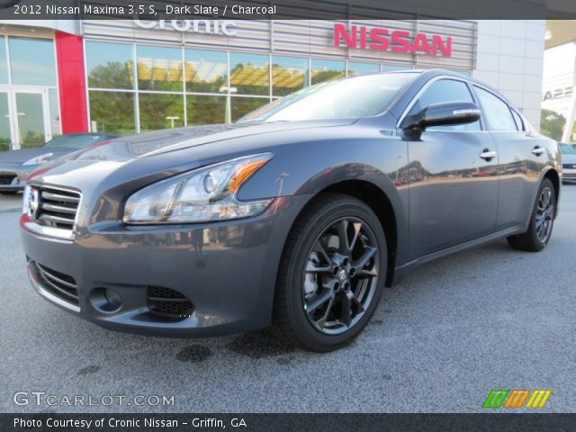 dark slate 2012 nissan maxima 3 5 s charcoal interior vehicle archive 65228887. Black Bedroom Furniture Sets. Home Design Ideas