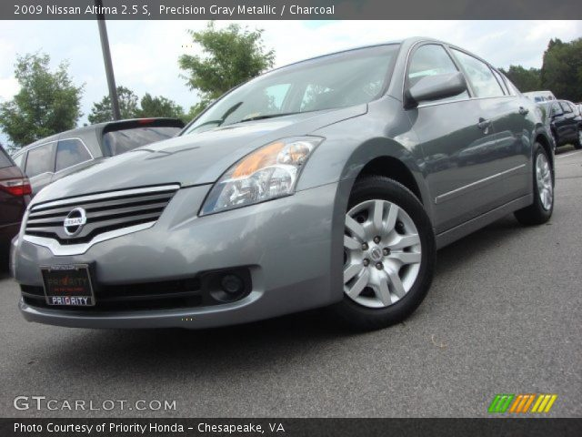 precision gray metallic 2009 nissan altima 2 5 s charcoal interior vehicle. Black Bedroom Furniture Sets. Home Design Ideas