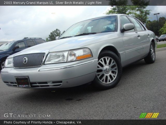 silver birch metallic 2003 mercury grand marquis ls light flint interior. Black Bedroom Furniture Sets. Home Design Ideas