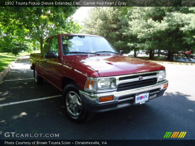 1992 Toyota Pickup Deluxe Extended Cab in Garnet Red Pearl