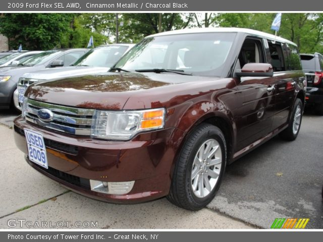 cinnamon metallic 2009 ford flex sel awd charcoal. Black Bedroom Furniture Sets. Home Design Ideas
