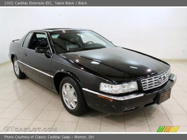 Sable Black 2002 Cadillac Eldorado Esc Black Interior Vehicle Archive 65307141