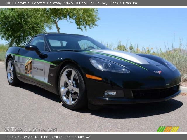 black 2008 chevrolet corvette callaway indy 500 pace car coupe titanium interior gtcarlot. Black Bedroom Furniture Sets. Home Design Ideas