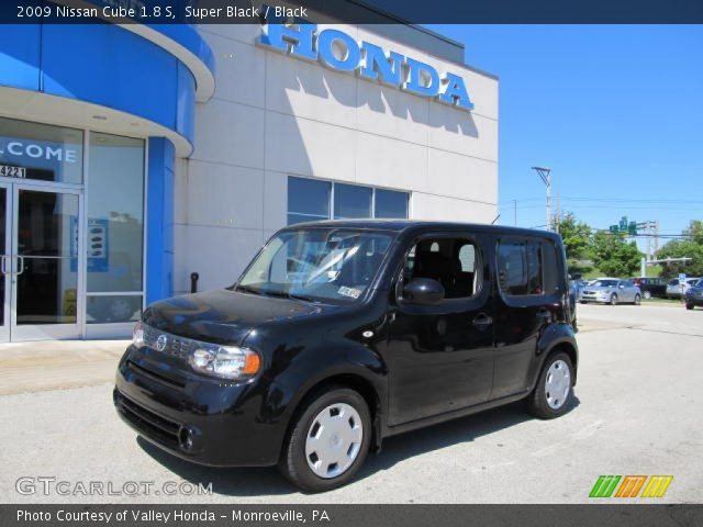super black 2009 nissan cube 1 8 s black interior vehicle archive 65306693. Black Bedroom Furniture Sets. Home Design Ideas