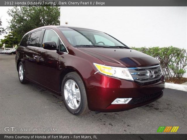 dark cherry pearl ii 2012 honda odyssey touring beige. Black Bedroom Furniture Sets. Home Design Ideas