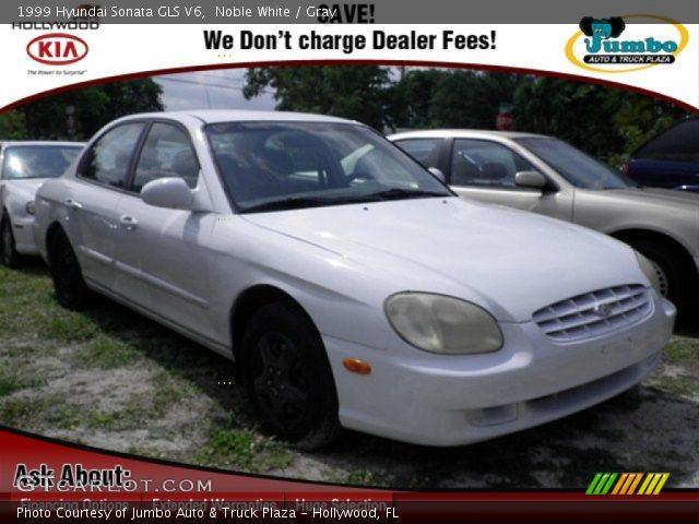 Noble White 1999 Hyundai Sonata Gls V6 Gray Interior