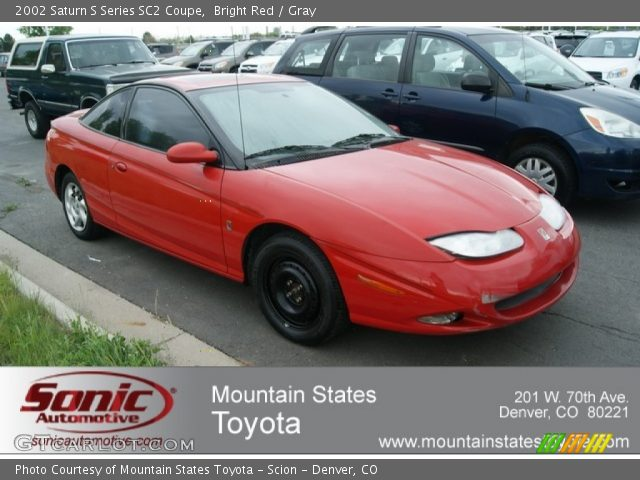 bright red 2002 saturn s series sc2 coupe gray interior vehicle archive. Black Bedroom Furniture Sets. Home Design Ideas
