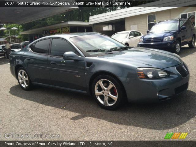 stealth gray metallic 2007 pontiac grand prix gxp sedan cashmere interior. Black Bedroom Furniture Sets. Home Design Ideas
