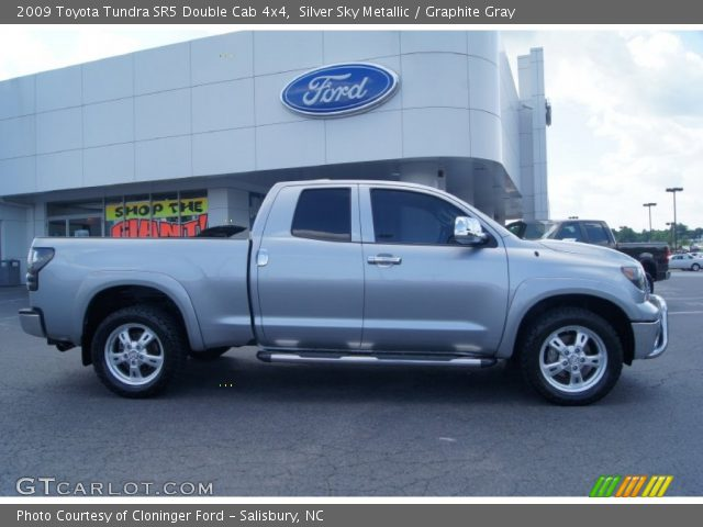 silver sky metallic 2009 toyota tundra sr5 double cab. Black Bedroom Furniture Sets. Home Design Ideas