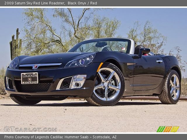 black onyx 2009 saturn sky red line roadster red interior vehicle archive. Black Bedroom Furniture Sets. Home Design Ideas