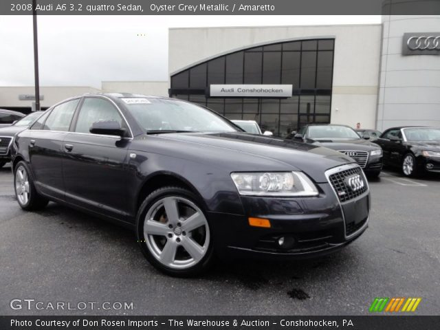 oyster grey metallic 2008 audi a6 3 2 quattro sedan amaretto interior. Black Bedroom Furniture Sets. Home Design Ideas