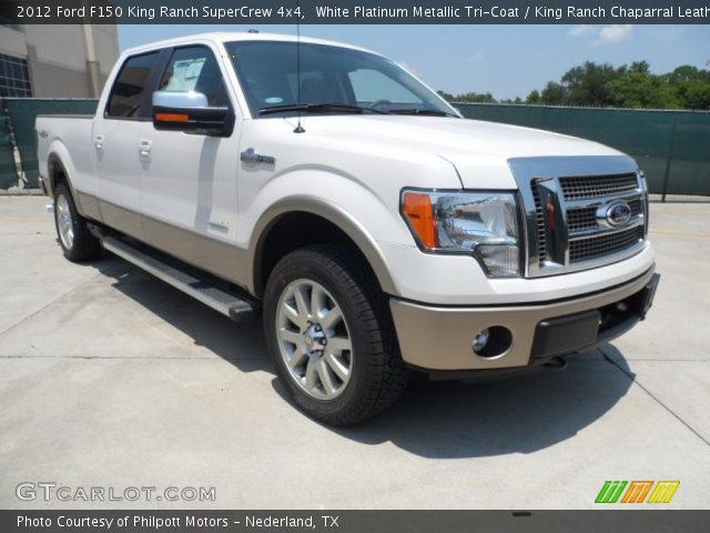 white platinum metallic tri coat 2012 ford f150 king ranch supercrew 4x4 king ranch. Black Bedroom Furniture Sets. Home Design Ideas