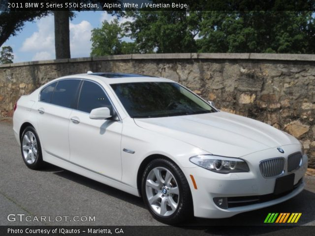 alpine white 2011 bmw 5 series 550i sedan venetian beige interior vehicle. Black Bedroom Furniture Sets. Home Design Ideas