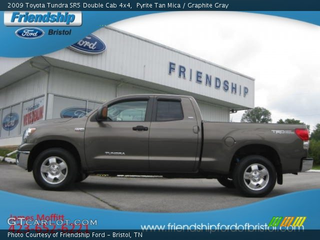 pyrite tan mica 2009 toyota tundra sr5 double cab 4x4 graphite gray interior. Black Bedroom Furniture Sets. Home Design Ideas