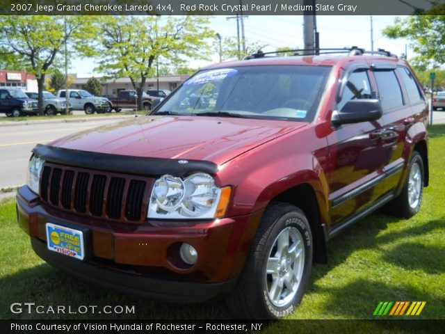 red rock crystal pearl 2007 jeep grand cherokee laredo 4x4 medium slate gray interior. Black Bedroom Furniture Sets. Home Design Ideas