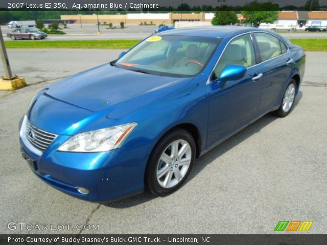 aquamarine blue 2007 lexus es 350 cashmere interior. Black Bedroom Furniture Sets. Home Design Ideas