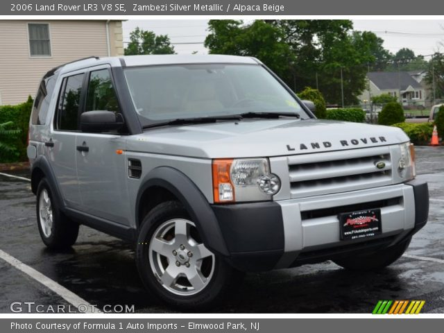 zambezi silver metallic 2006 land rover lr3 v8 se alpaca beige interior. Black Bedroom Furniture Sets. Home Design Ideas