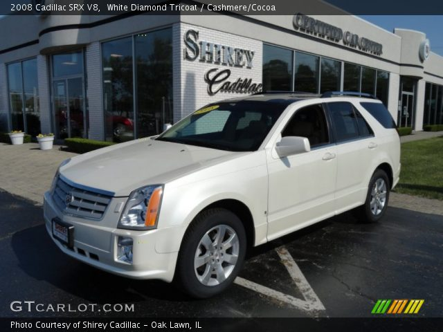 2008 Cadillac SRX V8 in White Diamond Tricoat